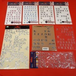 Used alphabet stickers